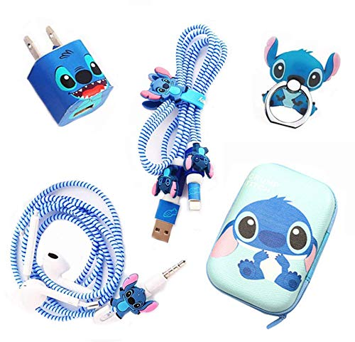 [2020 Advanced Styles] DIY Protector Stitch Set,Data Cable USB Charger Data Line Earphone Wire Saver Protector Compatible for iPhone 11 Pro Max XS XR X 7 8 Plus iPad iPod Series (Stitch)