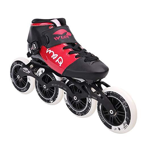 YZJYB Inline Skates Erwachsener Freien Atmungsaktiv Rennen Schuh 90/100/110 mm 4-Rad Schlittschuhe Übung Für Männer Und Frauen Anfänger Beste Wahl,30