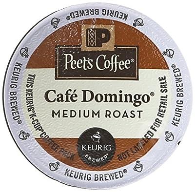 Peet's Coffee Cafe Domingo Medium Roast Single Cup Coffee for Keurig K-Cup Brewers 40 count