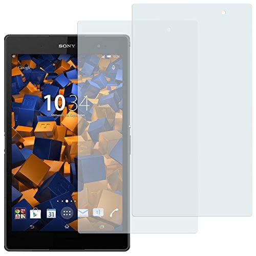 mumbi Schutzfolie kompatibel mit Sony Xperia Z3 Compact Tablet Folie klar, Bildschirmschutzfolie (2X)