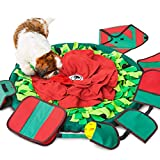 Sniffiz SmellyMatty Snuffle Mat for Dogs – Interactive Food IQ Enrichment Toy (Large Nosework Blanket) - Mind STIMULATING Games with Stress Relief for Boredom (Snuffle Mat with 5 Puzzles)