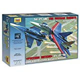 ZVEZDA 7277 - Aerobatic Demonstration Team of The Russian Air Force Russian Knights Sukhoi SU-27UB Scale 1/72 105 Details Lenght 12