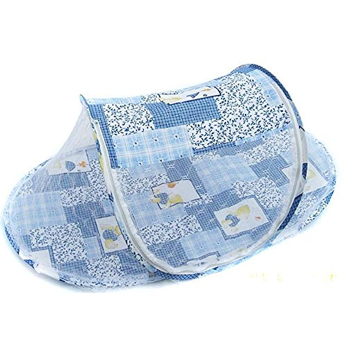CdyBox Instant Portable Pop up Insects Mosquito-net Breathable Travel Baby Tent Beach Play Tent Bed Playpen (Blue)…