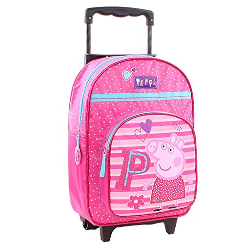Peppa Pig Wutz Backpack Trolley Backpack Suitcase Children's Suitcase 35 x 28 x 12 cm