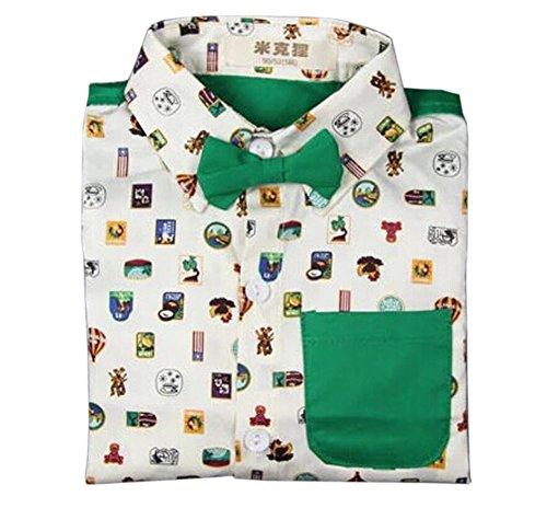 Blancho Chemise simple à manches longues pour garçon Little Gentleman - Multicolore - Taille Unique