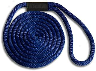 5/8 x 25' Navy Solid Braid Nylon Dock Line - Made in USA
