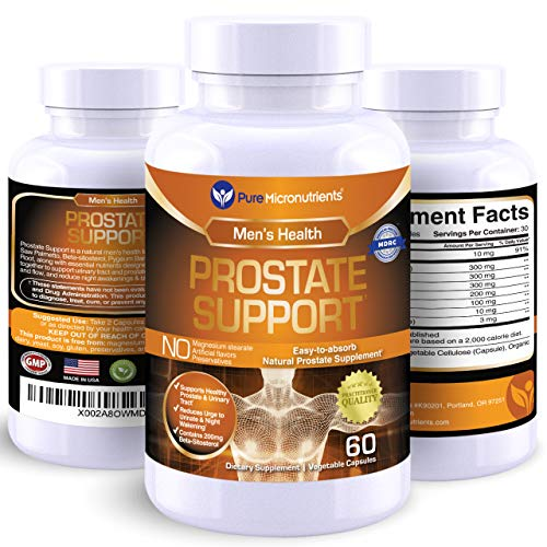 Advanced Prostate Health Supplement - Saw Palmetto, Beta-Sitosterol, Stinging Nettle Root, Lycopene - Bladder Control & Urinary Support Supplements for Men, Pure Micronutrients