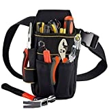 <span class='highlight'><span class='highlight'>Copechilla</span></span> Tool Pouches Electrician Professional and Belts,23X13X5CM,15 Pockets,Black,Material Double Layer Thickening 600D Oxford,Heavy Duty 10 KG, for Electrician,Technical Maintenance