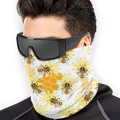 YJWLO Honing Jar Bee Ademende Winddichte Nek Warmer Anti-Stofsporen Mond Gezicht Cover Nek Gaiter Voor Outdoor