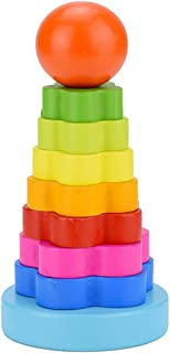 ZLWPH Children's Baby Wooden Building Block Toys-Rainbow Stacking Ring Tower Building Jade Music Learning Puzzle Children's Toy Gift