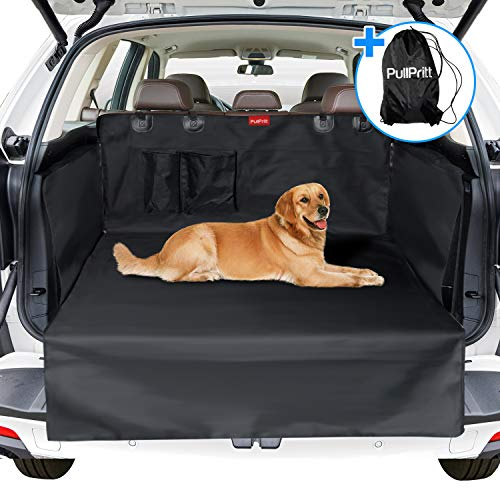 PullPritt Telo Auto per Cani, Universale Impermeabile Protezione Bagagliaio Auto 185 x 105 x 36CM, Copri Baule Auto per Cani con Protezione Laterale per Tutte Le Automobili e SUV