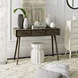 Safavieh Home Albus Mid-Century Modern Chocolate 3-drawer Console Table