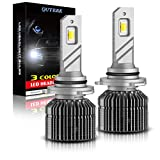 QUTEEK Smart 3 Colors 9005/9006 LED Headlight Bulbs,80W,10000LM,(3000K Golden Yellow,6000K Xenon White,4300K Warm White),HB3/HB4 Conversion Kit Replace for Halogen or HID,Pack of 2