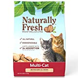 Naturally Fresh Cat Litter - Walnut-Based Quick-Clumping Kitty Litter, Unscented, Multi Cat, 26 lb