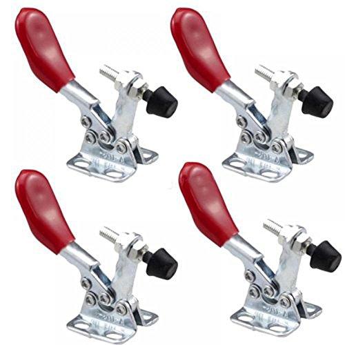 Preisvergleich Produktbild MAXGOODS 4 Stk 201A 60Lbs Kleiner Waagrechtspanner Schnellspanner Haltekraft Spannhebel Antislip Klemmen Handwerkzeuge