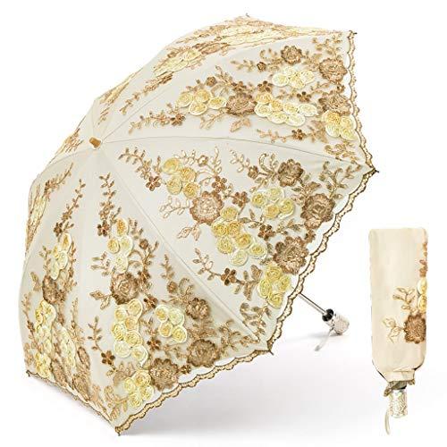 Sonne UV-Schutz Regen Regenschirm Vintage Spitze Sonnenschirm Dekorative Regenschirme Für Hochzeitsgeschenk Foto Requisiten Mädchen Geschenk Winddicht Reise Regenschirm Klapp Blume Stickerei Regenschi