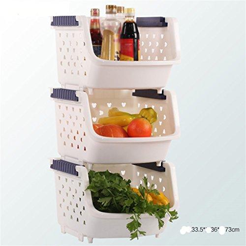 AIDELAI Scaffalature Mensole da Cucina Frutta Verdura Cucina ripiano Carrello Storage Rack Cucina Forniture scaffale vegetale (Colore : C)