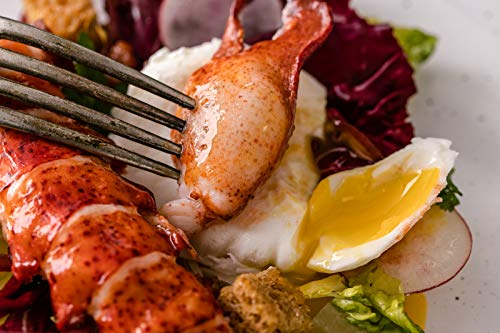 Lobster Meat | High Pressure Processed | Raw Frozen 2lb Pack of Claw Knuckle Tail | Wild Caught in Canada | The Naked Lobster | Premium Quality
