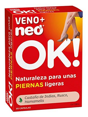 NEO   Veno + Complemento Alimenticio - 30 Cápsulas   A Base de Castaño de Indias Rusco Hamamelis   Para Reducir la Sensación de Piernas Cansadas   Favorece a una Mejor Circulación   1 Cápsula al Día