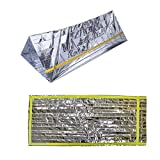 Emergency Mylar Thermal Sleeping Bag (3-Pack), Designed for NASA, Space Blanket Survival Kit Mylar Camping Blanket, Light Weight All-weather Emergency Survival Bag,Perfect for Outdoors, RV, First Aid