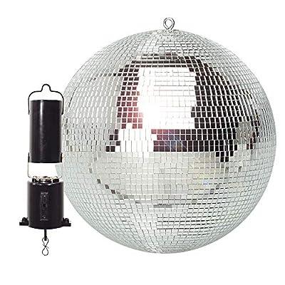 "FX Lab Lightweight Mirror Ball with Revolving Motor Wedding Party Disco Dance DJ 12"""