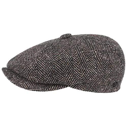 Lierys Gorra Gatsby Espiga Hombre - Made in Italy de Invierno Lana con Visera, Forro Verano/Invierno - M (56-57 cm) Beige Oscuro