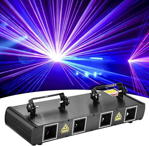 DJ Bühnenlichter, 4 Linsen RGBY Discolicht Partylicht Sound-aktivierte Bühneneffekt Beleuchtung LED Party Lichter DMX512 Controller für Tanzver Geburtstag Weihnachten Hochzeit Inventar in Deutschland