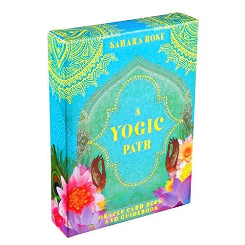 Fhdjcn A Yogic Path Oracle Deck and Guidebook 54 Juego de Cartas Juego de Mesa de Fiesta de Juguete