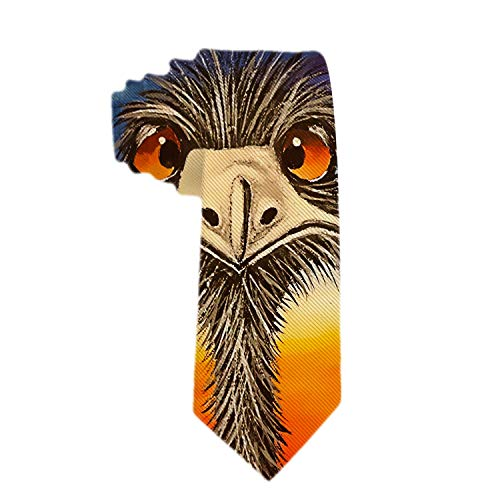 Corbata clásica para hombre Corbata de seda Corbata de seda de poliéster Corbata tejida Corbatas de cara de avestruz divertidas Corbatas para bodas, novios, padrinos de boda, misiones, bailes, regalos