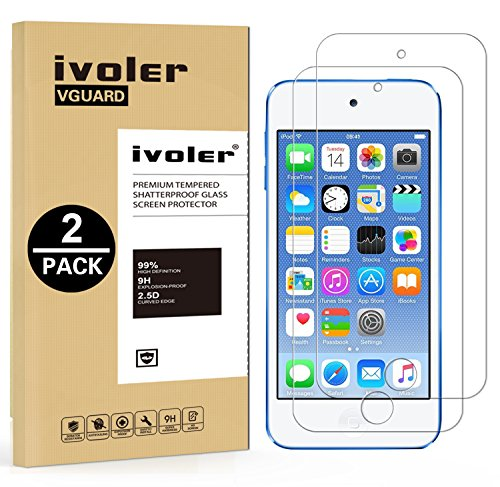 ivoler [2 Stücke] Panzerglas Schutzfolie für Apple iPod Touch 7/6 / 5 (7, 6. und 5. Generation), Panzerglasfolie Folie Displayschutzfolie Hartglas Gehärtetem Glas DisplayPanzerglas für iPod Touch