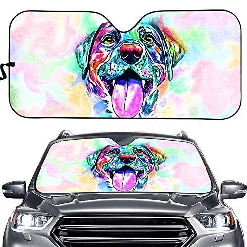 Parasol deslumbrante para impresión de fondo de la fascia delantera del automóvil Bulldog Mantenga su automóvil fresco