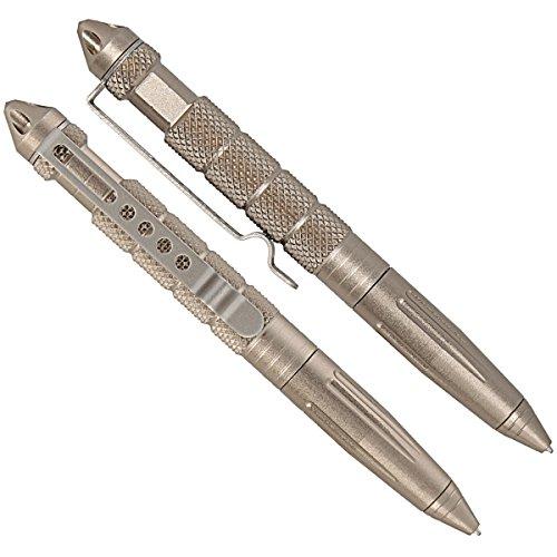 Tactical Pen Kubotan-Stift aus Edelstahl mit Glasbrecher Multifunktionaler Kugelschreiber zur Selbstverteidigung