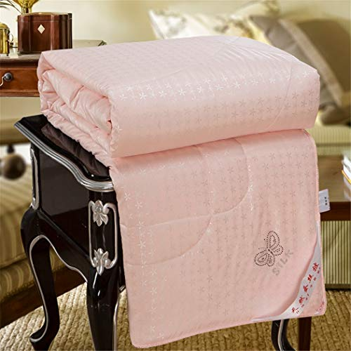 KIHUGL Chinese Silk Comforter Duvet Blanket Quilt Cotton Covered Twin Full Queen King rose 220x240cm 3000g