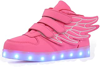 Ali-tone Unisex Bambini Scarpe LED Luminosi Sneakers con Luci Accendono Scarpe Uomo/Donne Sportive Scarpe LED per Un Regal...