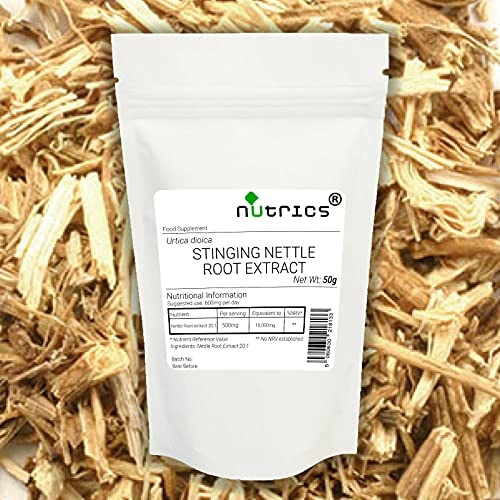 Nutrics 20:1 Nettle Root Extract Powder 200g 100% Pure Urtica Dioica