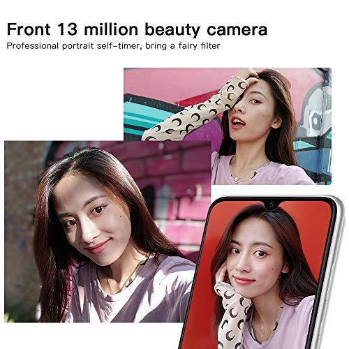 """Xiaomi Redmi Note 8 Teléfono 4GB RAM + 128GB ROM, Pantalla Completa de 6.3"""", Procesador Snapdragon 665 Octa-Core, 13MP Frontal y 48MP AI Cuatro Cámara Trasera Móviles Versión Global (Blanco)."""