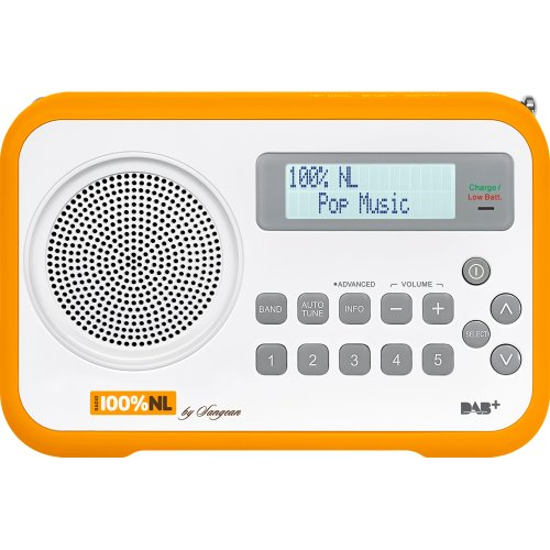 Sangean DPR-67 Digitalradio (5 DAB+, 5 FM, LCD-Display, USB) weiß/orange