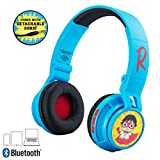 Ryans World Wireless Bluetooth Portable Kids Headphones with Microphone, Volume Reduced to Protect Hearing Rechargeable Battery, Adjustable Kids Headband for School Home or Travel