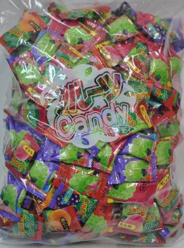 やおきん 1Kg入り (フルーツキャンディ) (1大袋に個別包装のキャンディーが240個前後入っています)