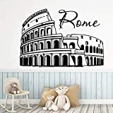 Bunte Rom Colosseum Aufkleber Abnehmbare Vinyl Wandbild