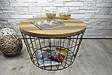 Livitat Beistelltisch Couchtisch rund rostig Vintage Metall Industrie Loft Living LV5051