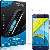 SWIDO Schutzfolie für Huawei Honor 6C Pro [2 Stück] Kristall-Klar, Hoher Festigkeitgrad, Schutz vor Öl, Staub & Kratzer/Glasfolie, Bildschirmschutz, Bildschirmschutzfolie, Panzerglas-Folie