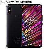 UMIDIGI F1 Android 9.0 Smartphone ohne Vertrag (128GB großer Speicher, 5150 großer Akku, 16 cm(6.3 Zoll) FHD+ Waterdrop Full Screen, Globale Version, NFC Handy, 16MP+8MP Dual Kamera) Schwarz