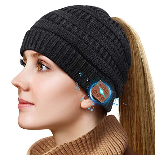 Gifts for Men/Women Bluetooth Beanie, Bluetooth Hat with Wireless Headphones, Stocking Stuffers Wireless Headphone Beanie Gift for Dad, Mom, Boyfriend, Husband