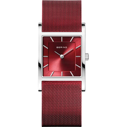 BERING Damen Analog Quarz Classic Collection Armbanduhr mit Edelstahl Armband und Saphirglas 10426-303-S