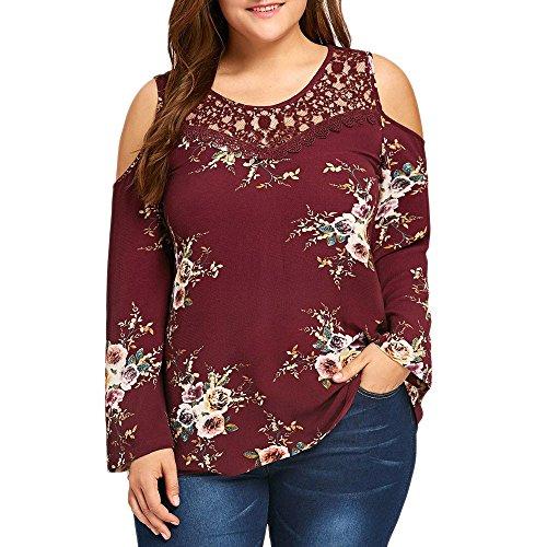 Lenfesh Sweatshirt Damen Pullover Langarmshirt Mode Schulterfreie Oberteile Elegante Lose T Shirt Blusen Tunika Hemd Shirt Tops