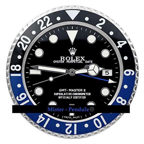 Rolex Replika Wanduhr Motiv Rolex GMT Batman blau schwarz