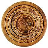 D.O.M. Olive Wood Madera de Olivo Nesting Cuencos, Set de 6, Grano/Natural