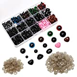 Maznyu 570PCS Premium Plastic Safety Eyes and Noses with Washers, Assorted Sizes for Craft Doll Eyes and Teddy Bear Nose, Plash Animal and Amigurumi, Crochet Toy and Stuffed Animals Craft Making