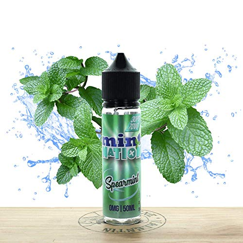 E-Liquid Mint Nation Spearmint 50ml Sin Nicotina Cigarillos Electrónicos Vape